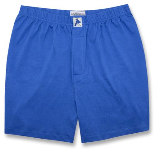 100% Knit Cotton Boxer Shorts | Biagio Royal Blue Boxers