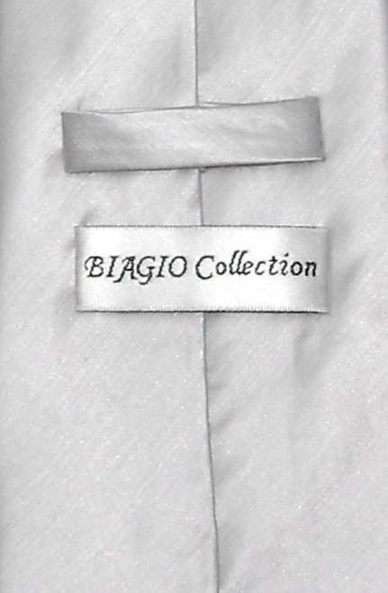 Biagio Mens Silver Grey Bamboo Silk Dress Vest Neck Tie Set sz 3XL
