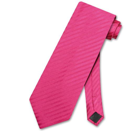 Vesuvio Napoli NeckTie Red Violet Stripe Vertical Stripe Mens Neck Tie