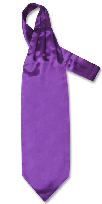 Purple Indigo Cravat Tie | Biagio Ascot Solid Color Mens NeckTie