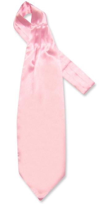Light Pink Ascot | Mens Solid Light Pink Color Ascot Cravat Necktie
