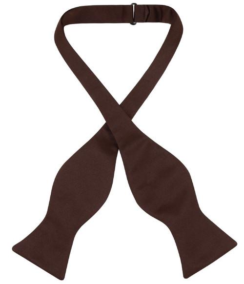 Vesuvio Napoli Self Tie Bow Tie Chocolate Brown Color Mens BowTie