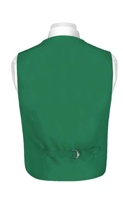Boys Dress Vest NeckTie Solid Emerald Green Color Neck Tie Set