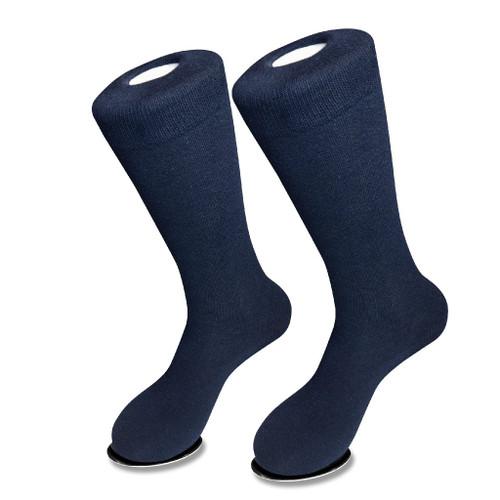Navy Blue Cotton Dress Socks | 1 Pair Mens Biagio Cotton Dress Sock