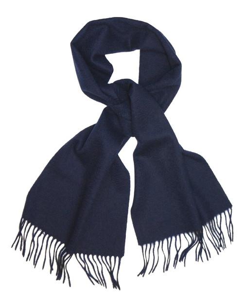 Navy Blue Wool Neck Scarf   Biagio Brand 100% Wool Neck Scarve
