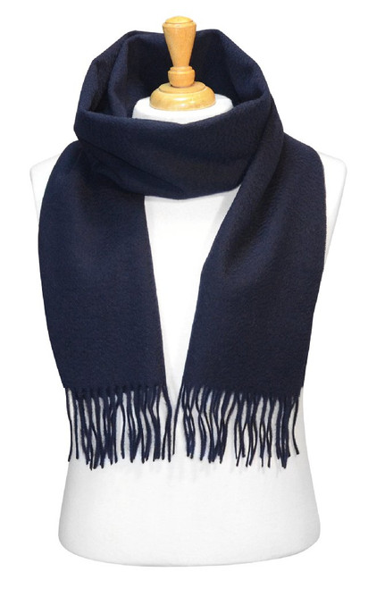 Navy Blue Wool Neck Scarf | Biagio Brand 100% Wool Neck Scarve