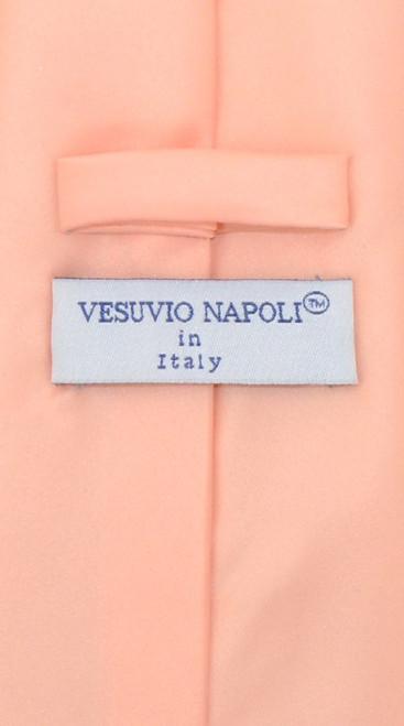 Peach Color Tie And Peach Color Handkerchief Set For Men