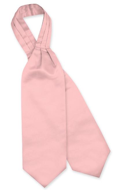 Dusty Pink Cravat Tie | Vesuvio Napoli Mens Solid Color Ascot Cravat