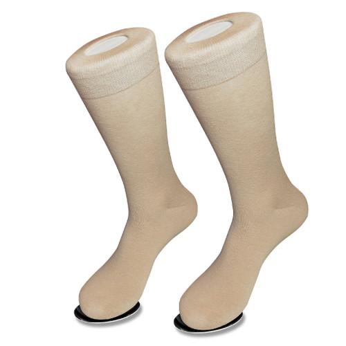 Solid Beige Color Mens Socks | 1 Pair of Biagio Cotton Dress Socks