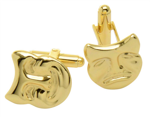 Theater Mask Cufflinks | Mens Gold Tone Thater Mask Cufflinks