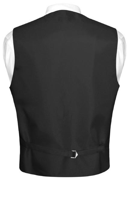 Mens Plaid Design Dress Vest & BowTie Black Gray White Bow Tie Set