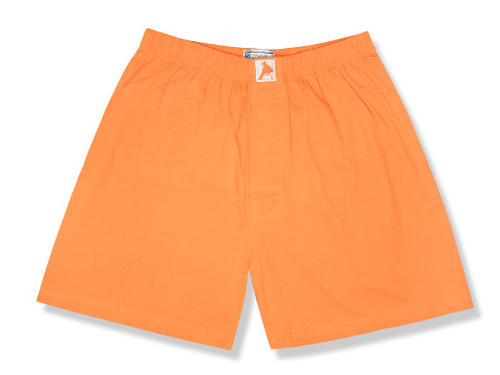 100% Knit Cotton Boxer Shorts | Biagio Mens Burnt Orange Boxers
