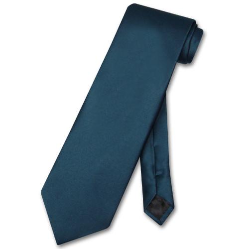 Blue Sapphire Mens NeckTie   Vesuvio Napoli Solid Color Neck Tie