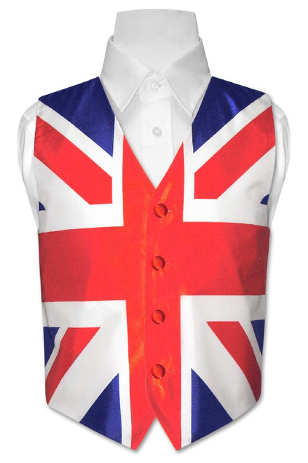British Flag Vest | Boys British Flag Vest Size 6