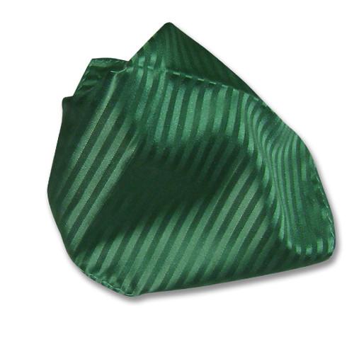 Mens Dress Vest NeckTie Emerald Green Vertical Stripe Neck Tie Set