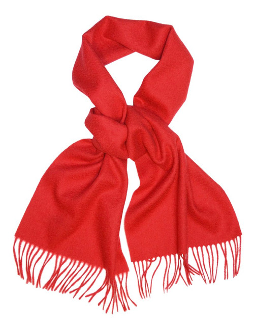 Red Color Wool Neck Scarf | Biagio Brand 100% Wool Neck Scarve