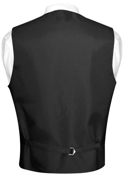 Mens Paisley Design Dress Vest Bow Tie Charcoal Grey Color BowTie Set