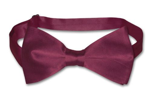 Eggplant Purple Mens Bowtie   Biagio Silk Pre Tied Colored Bow Tie