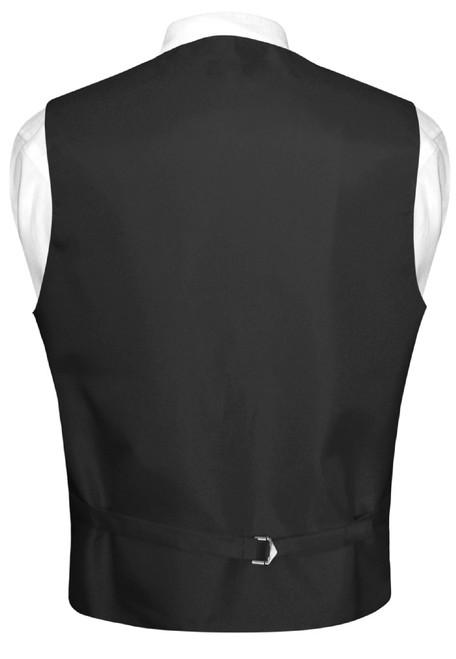 Mens SEQUIN Design Dress Vest & Bow Tie Gold Color BowTie Set