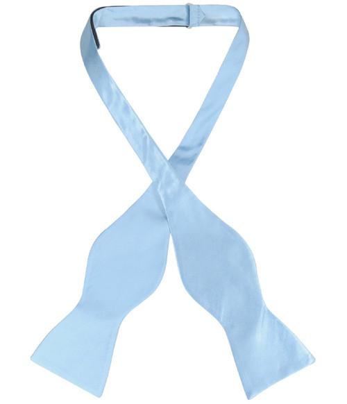 Biagio Self Tie Bow Tie Solid Baby Blue Color Mens BowTie