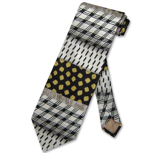 Italian Necktie | Mens Antonio Ricci Silk Geometric Design Necktie