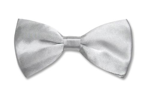 Silver Grey Bow Tie | Mens Silver Gray Bow Tie