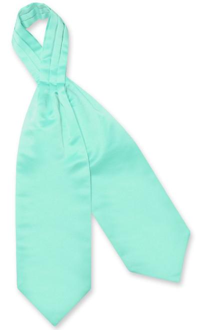 Aqua Green Cravat Tie | Vesuvio Napoli Mens Solid Color Ascot Cravat