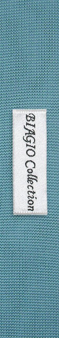 Aqua Blue Tie | Biagio Solid Knitted Mens Turquoise Color NeckTie