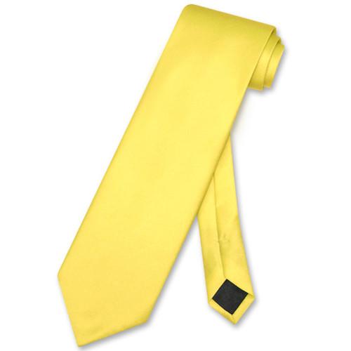 Golden Yellow Mens NeckTie | Vesuvio Napoli Solid Color Neck Tie