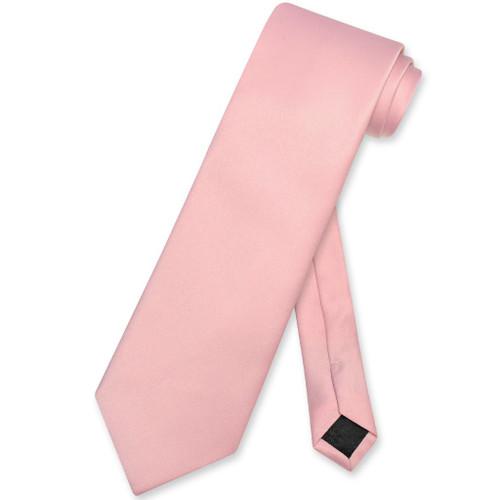 Dusty Pink Mens NeckTie | Vesuvio Napoli Solid Color Mens Neck Tie