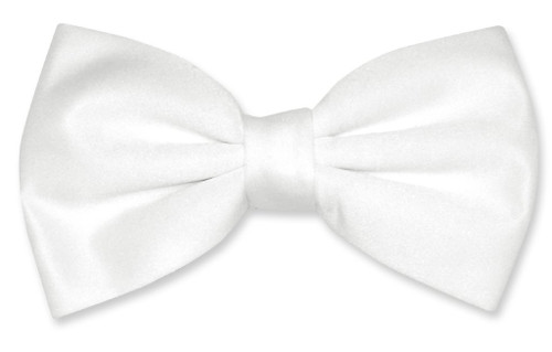Vesuvio Napoli BowTie Solid White Color Mens Bow Tie Tux or Suit