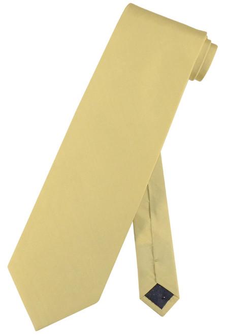 100% Silk NeckTie Solid Yellow Green Color Mens Neck Tie