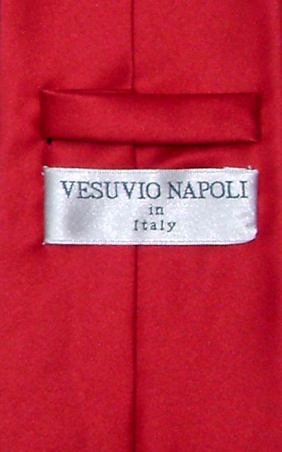 Red Color Mens NeckTie | Vesuvio Napoli Solid Color Mens Neck Tie