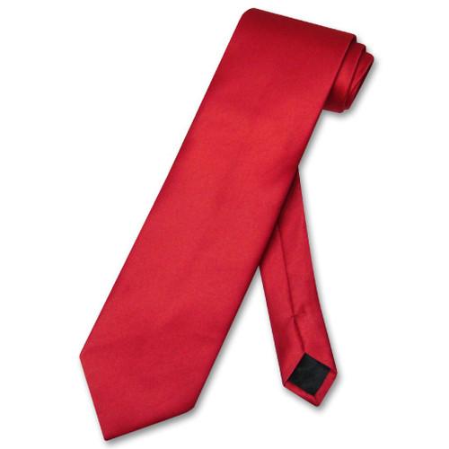 Red Color Mens NeckTie | Vesuvio Napoli Solid Color Mens Neck Tie