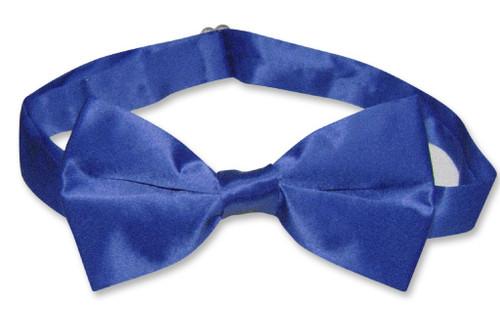 Royal Blue Mens Bowtie   Biagio Silk Pre Tied Solid Color Bow Tie