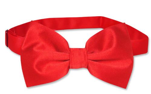Vesuvio Napoli BowTie Solid Red Color Mens Bow Tie Tuxedo or Suit