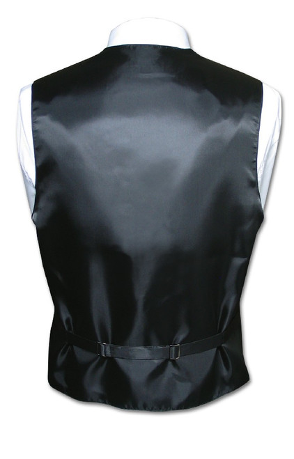 Mens Dress Vest & NeckTie Silver Grey Neck Tie Horizontal Stripe Set