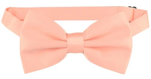 Vesuvio Napoli BowTie Solid Peach Color Mens Bow Tie