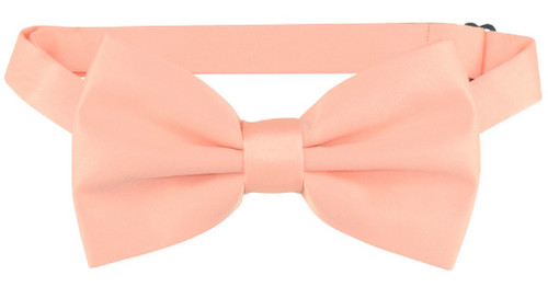 Vesuvio Napoli BowTie Solid Peach Color Mens Bow Tie