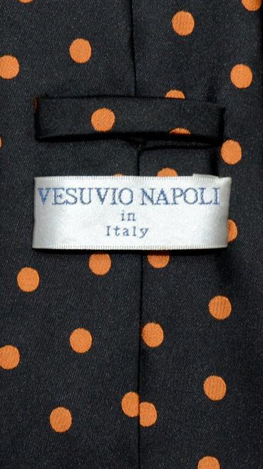 """Vesuvio Napoli NeckTie Skinny BLACK w// Light PINK Polka Dots 2.5/"""" Men/'s Neck Tie"""