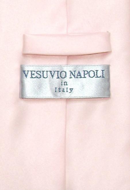 Pink Color Mens NeckTie | Vesuvio Napoli Solid Color Mens Neck Ties