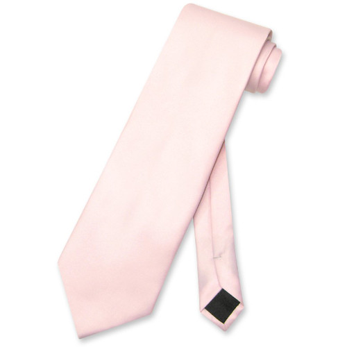 Pink Color Mens NeckTie | Vesuvio Napoli Solid Color Mens Neck Ties