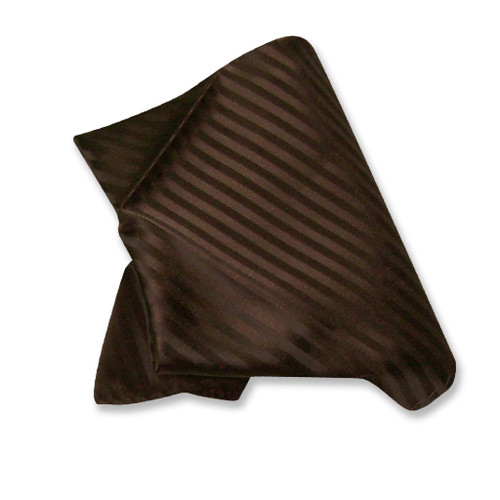 Mens Dress Vest BowTie Chocolate Brown Color Striped Bow Tie Set