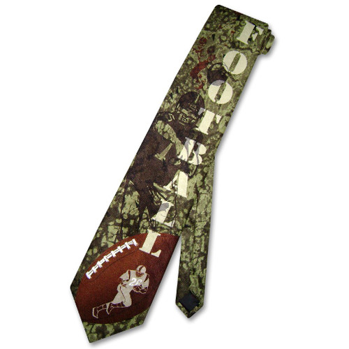 Football Tie | Mens Ralph Marlin Football Themed Novelty Necktie