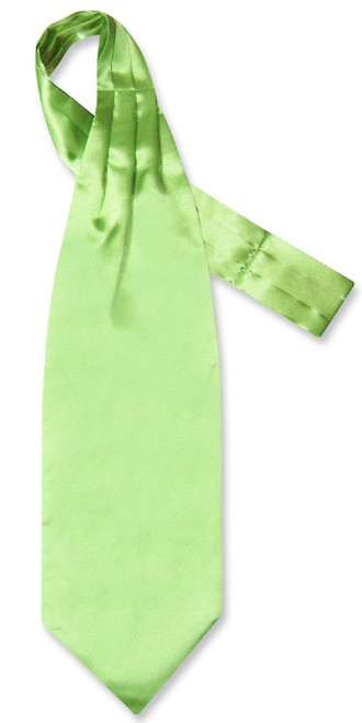 Green Cravat | Mens Biagio Lime Green Ascot Cravat Necktie