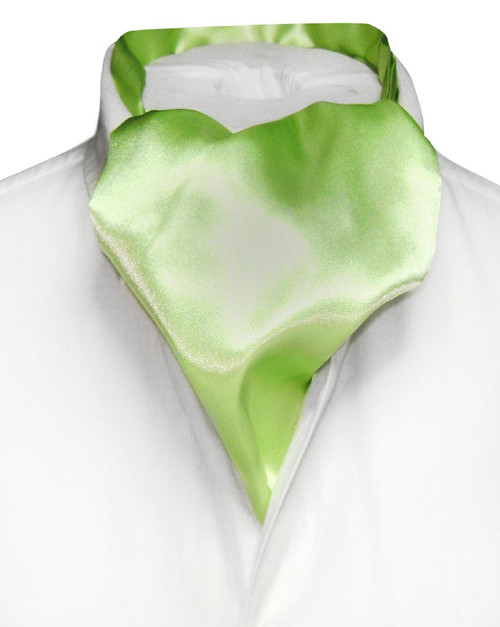 Green Cravat | Mens Biagio Lime Green Ascot Cravat Necktie