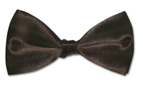 BowTie Solid Chocolate Brown Color Mens Bow Tie Tuxedo or Suit