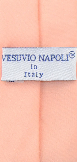 Vesuvio Napoli Narrow NeckTie Skinny Peach Color Mens Thin Neck Tie
