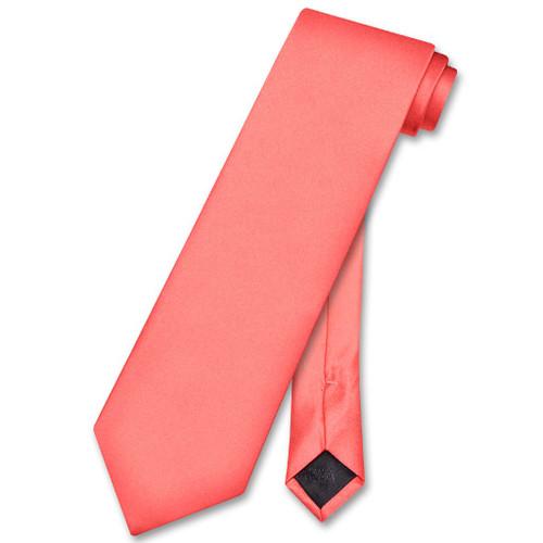 Solid Coral Tie | Solid Coral Pink Tie By Vesuvio Napoli
