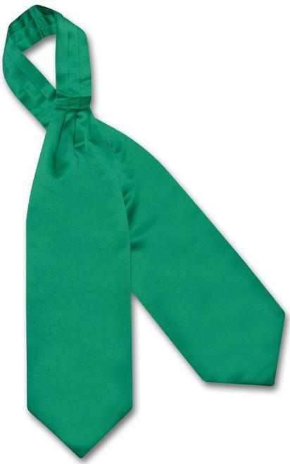 Emerald Green Cravat Tie | Vesuvio Napoli Mens Solid Color Ascot Tie